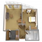 Sanctum Serviced Deluxe 1 Bedroom Apartments - floorplan