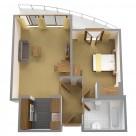 Sanctum Serviced Deluxe 1 Bedroom Apartments - floorplan