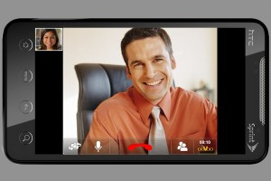 You can enjoy a video chat on a smartphone or tablet.