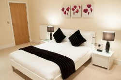 Canary Lanterns Court Serviced 1 Bedroom - Spacious bedroom